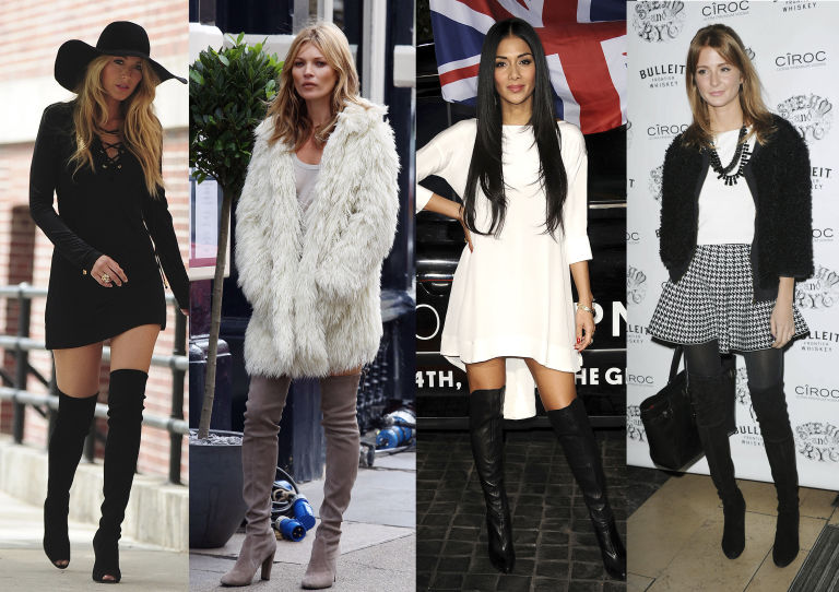 Image result for over the knee boots trend