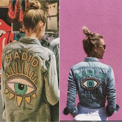 Karlie Kloss obvs loved Gigi Hadid's custom Mother Denim jacket so much she just had to get her own. And we don't blame her. Can we have one too, please?!