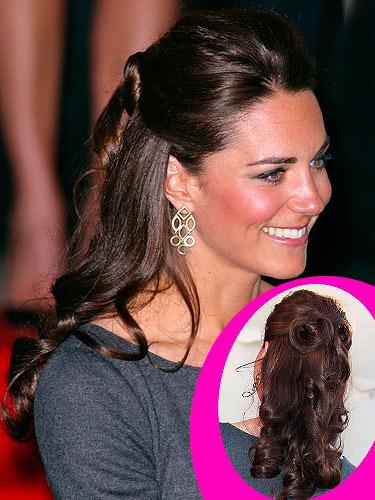 Get the look Kate Middletons halfup halfdown hairstyle