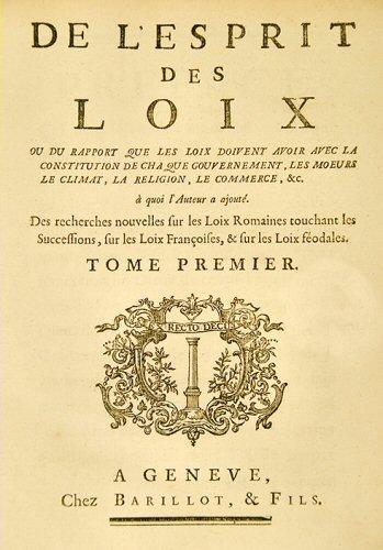 Montesquieu L Esprit Des Lois : montesquieu, esprit, L'Esprit, Lois,, Montesquieu.