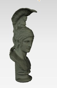 Bust of Ares Borghese, solid view, captured at the Skulpturhalle Basel by Cosmo Wenman
