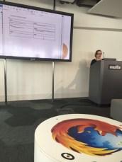 Selbe Vortragende, anderer Ort. Diesmal sind wir zu Gast bei Mozilla.