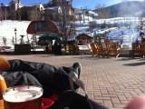 Resting on the Park Hyatt patio
