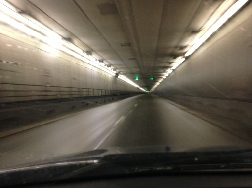 Empty Eisenhower Tunnel