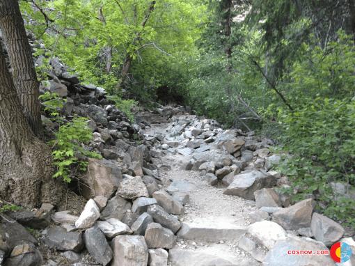 Rocky hike at Hanging Lake