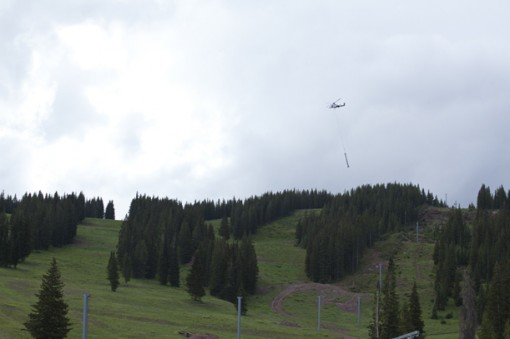 Vail Chair 4 tower removal