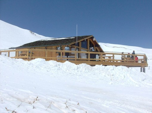 The new Ptarmigan Roost Cabin at Loveland Ski Area photo by Xnatedawgx