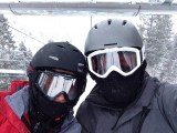 Snowy morning on the lift at Beaver Creek