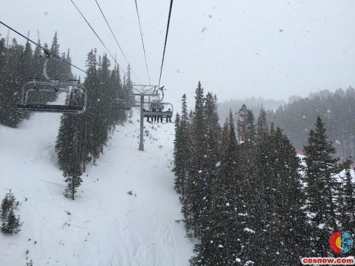 Peak 8 snowing at Breck
