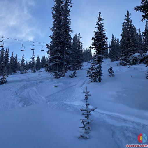 Fresh tracks in Eagle Wind on January 2, 2020