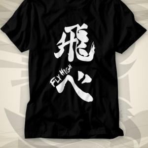 Haikyuu Fly High Black Shirt