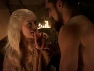 Emilia Clarke real sex scene – Game of Thrones