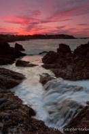 Sunset tidepool