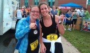 Kylla and Me and the Wicked Half Marathon finish last year.