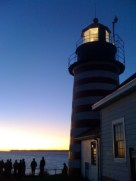 First light hits U.S. land each morning here at Quoddy Head Light
