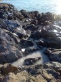 Frozen tide pool
