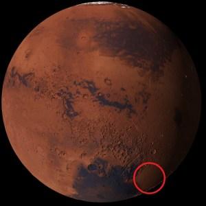 火星探査機発見位置