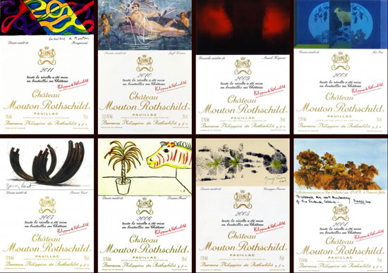 Etichete Chateau Mouton Rothschild