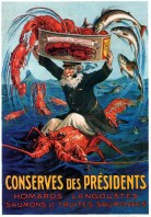 Publicidad marinera. Conserves des Présidents (Francia).