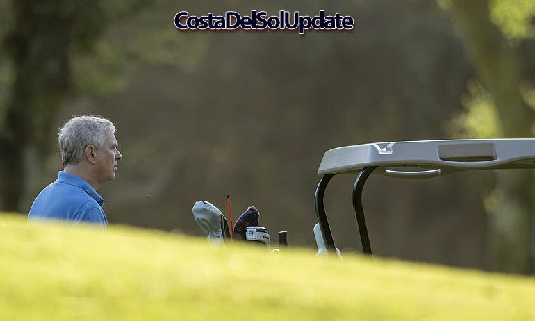 Prince Andrew Golf Spain
