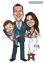 caricatura família fotografia criança costa de souza