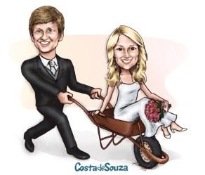 caricatura casamento convite