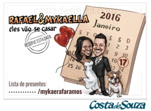 caricatura casamento save the date