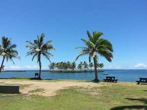 Fiji travel and beach views