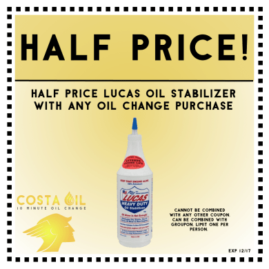 Half Price Oil Stabilizer With Oil Change