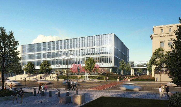 A new building at the Essex County Hall of Records complex in Newark, N.J., is scheduled to be completed by spring next year. (Courtesy of Essex County)
