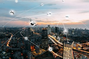 Several developers, tech providers, cities and universities are now involved in efforts to speed the availability of flying taxis in crowded cities. (NASA/University of California San Diego)