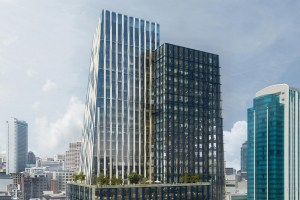 Brookfield Properties' new 415 Natoma tower in San Francisco's SoMa neighborhood is on track to open later this year. (Steelblue)