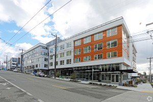 Modera Jackson, a five-story apartment building at 1801 S. Jackson St. in Seattle, has been sold and renamed Bell Jackson Street Apartments. (CoStar)