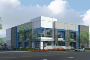 Duke Realty broke ground on the warehouse in May.  It's rising on 8.7 acres in the airport area industrial market of the Inland Empire's San Bernardino County. (CoStar)