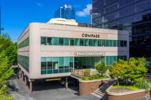 Plaza 305 is occupied by the real estate company Compass and software company Final Strike Games. (CoStar)