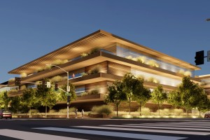 Apple plans to redevelop a mix of older industrial and retail sites in Culver City, California, into a two-building office campus. (Apple)