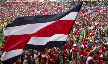 Costa Rica population Flag
