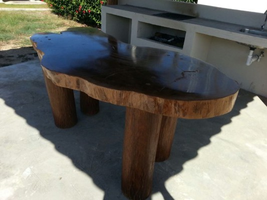 Hand made table by a local carpenter in San Buenaventura.