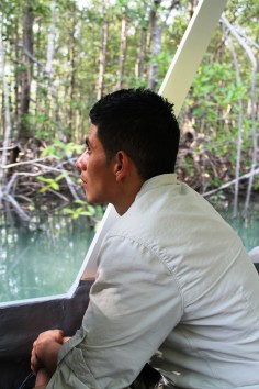 Ricky - enjoying the view of the mangroves