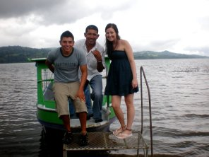 Ricky & Nikki - with our van-boat-van driver