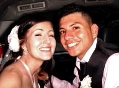 Nikki and Ricky; wedding day
