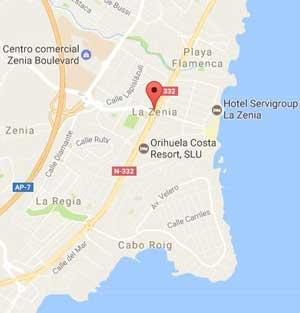 Map of La Zenia