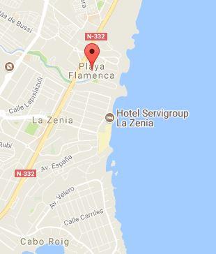 Playa flamenca Mapa
