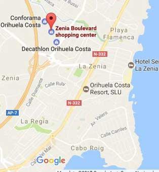Zenia Boulevard Mapa