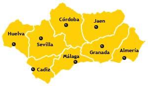 andalucia provincias mapa