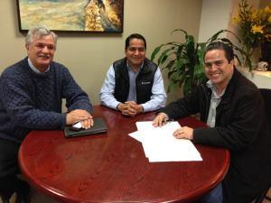 El titular de la Sedema, Víctor Alvarado Martínez, y el alcalde Joaquín Caballero se reunieron para unir esfuerzos y crear nuevas Áreas Naturales Protegidas