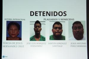 Los detenidos por el plagio y homicidio del reportero Goyo Jiménez. Recibieron 20 mil pesos por parte de Teresa de Jesús -vecina de Goyo- para darle muerte.