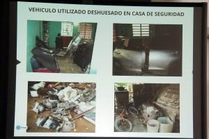 Aspectos de la casa de seguridad hallada en Las Choapas donde fue mantenido plagiado el comunicador Gregorio Jiménez de la Cruz.