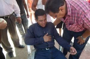 Alejandro Truillo, candidato a la agencia de Villa Allende, presentó daño cervical, policontundido y esguince, luego de ser arrollado.
