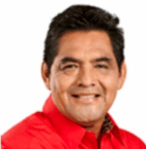 Foto del alcalde de Texistepec, Enrique Antonio Paul.